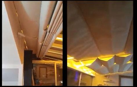 Açılır tavan perdesi